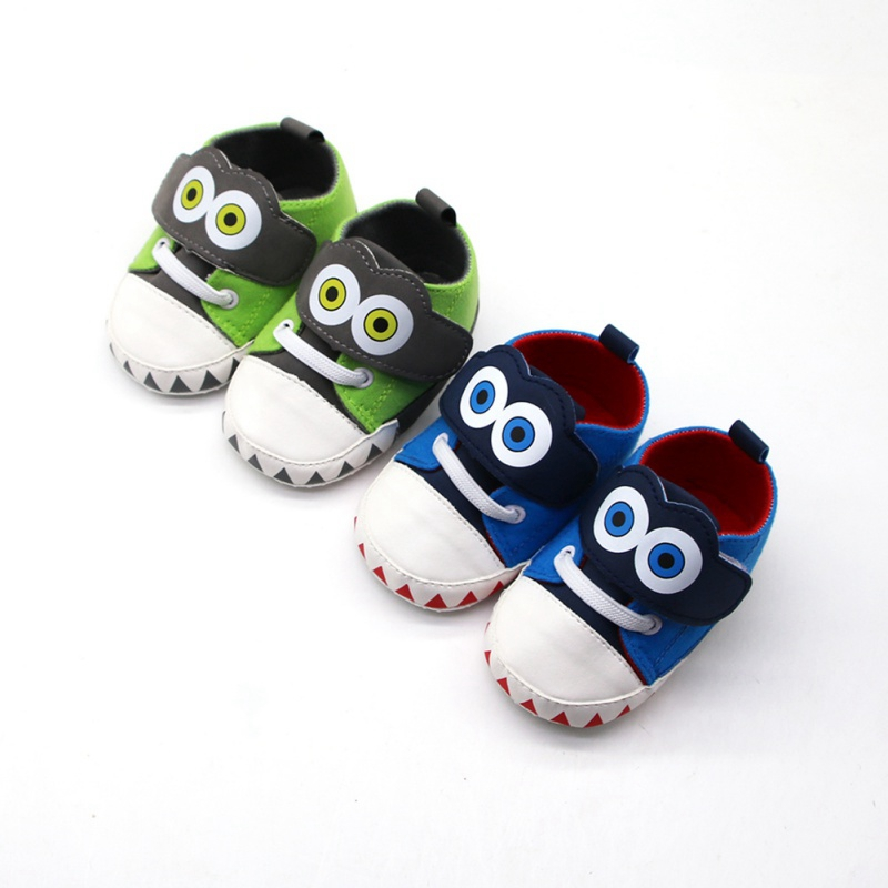 Funny Big Eyes Baby Boys Canvas Shoes Non-slip Breathable Soft Sole Anti-slip Baby Toddler Shoes