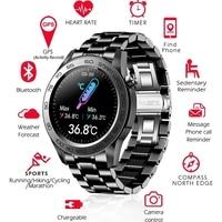 2021 Full Touch Screen Smart Horloge Mannen Body Temperatuur Activiteit Record Smartwatch Hartslag Sport Fitness Smart Klokken Voor Mannen