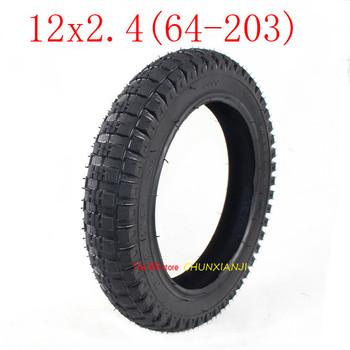 Wysokiej jakości 12 #215 2 4 (64-203) opony elektryczny opona skutera dla dzieci rower 12 Cal 12*2 4 (64-203) dzieci opon rowerowych tanie i dobre opinie CHENXUANJI 14inchinch 2 4inchinch 0 55kgkg rubber 14x2 4(64-203)inner and outer tire