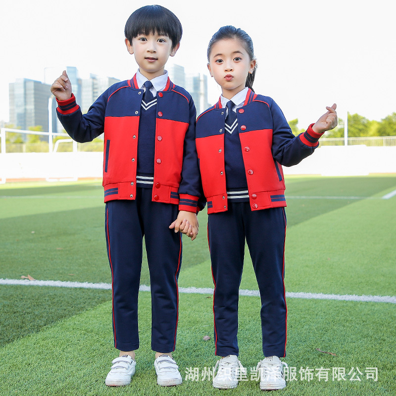 Kindergarten Suit Spring And Autumn-Young STUDENT'S School Uniform Spring And Autumn Set Teacher British Style Children School U