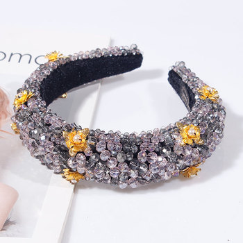 Rhinestone Sponge Velvet luxury Headband 2