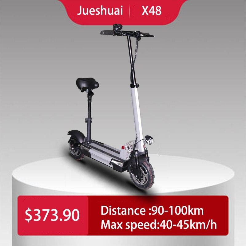 Longue distance plus de 100km scooter électrique 48v 500w haut puissant scooter pliable avec siège 48v 26A hoverboard skateboard