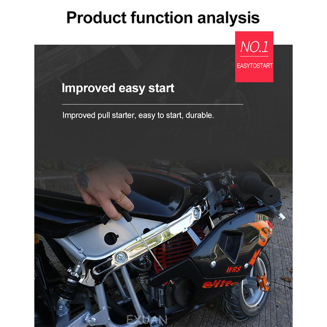 Disc Brake Race Small Sports Car Small Car 2020 Double Headlight Type Four Stroke Mini Motorcycle Pure Gasoline 49cc 3