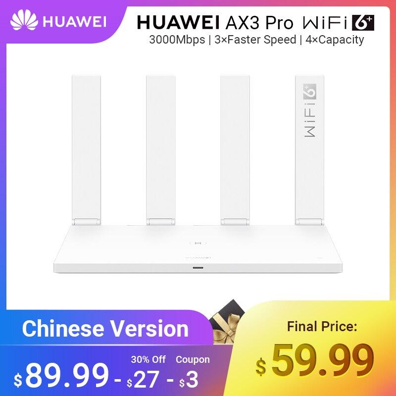 Version brésil HUAWEI WiFi AX3 Pro quatre amplificateurs Quad Core WiFi 6 + routeur sans fil WiFi 5 GHz répéteur 3000 Mbps NFC