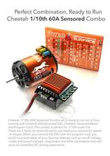 SkyRC Leopard 4000KV 8.5T 2P Sensored Brushless Motor+CS60 60A Brushless ESC+LED Program Card Combo Set for 1/10 1/12 RC Car(China)