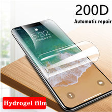 200D Screen Protector Hydrogel Film For iphone X XS Max XR 11 Pro Protective Film For iphone 6 7 8 6S Plus 5s SE Clear Not Glass(China)