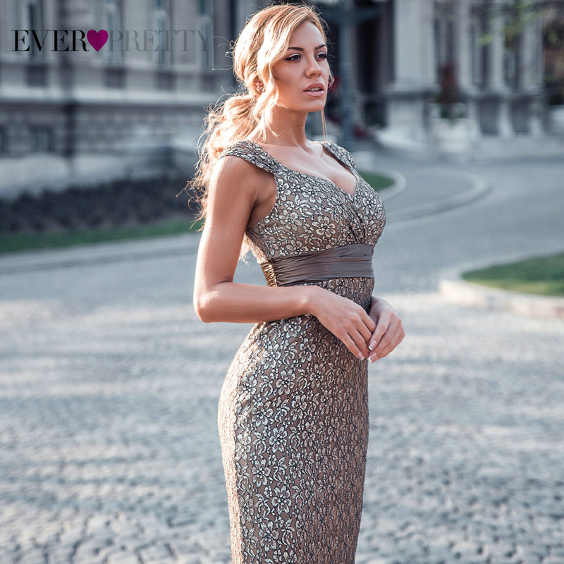 Image 4 - Plus Size Evening Dresses 2019 Ever Pretty EP08798CF Elegant Mermaid Lace Sleeveless Party Gowns Vintage Sexy  Robe De Soiree-in Evening Dresses from Weddings & Events
