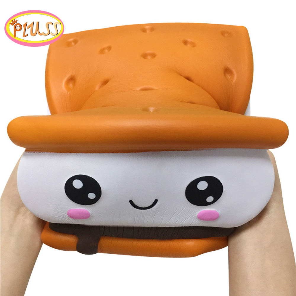 New Hot Selling Giant Squishy Cake Hamburger Food Squishy Slow Rising Scented Bread Squeeze Toys Simulation Exquisite Kids Gifts