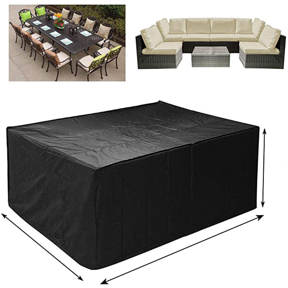 Cubierta protectora de tela Oxford para muebles cubierta a prueba de polvo para mesa de ratán, cubo, silla, sofá, impermeable, lluvia, jardín y Patio, 72 tamaños