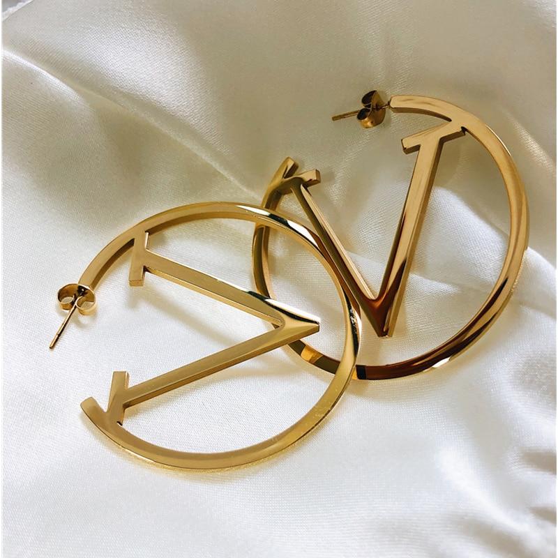 Stainless Steel Gold Hoop Earrings For Women Simple Punk Fashion Gold Silver Ear Gift Party Jewelry|Hoop Earrings|   - AliExpress
