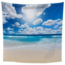 Large Beautiful Seascape Wall Tapestry Wall Hanging Blanket Throw Rug 1.5*1.3m Print Wall Art Decoration christmas tree fireplace print tapestry wall hanging art