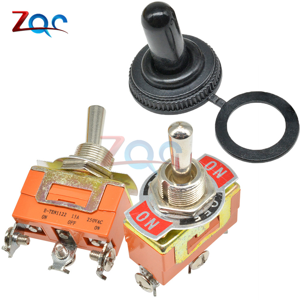 ON ON //OFF// Momentary Car Dash 15A 250V Waterproof Metal Toggle Flick Switches