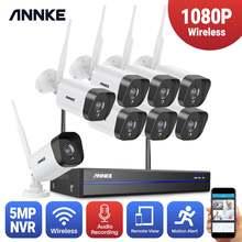 Камера видеонаблюдения annke 8 каналов 1080p fhd wi fi 5 Мп
