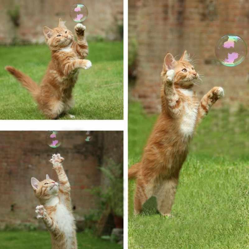 17.7ml טבעי תרסיס Catnip מנטול טעם להפוך את חתלתול נרגש אינטראקטיבי Catnip בועות צעצועי בועת blaster לחתולים