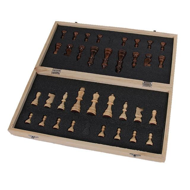 Jeu d'échecs International en bois de haute qualité 24/29/34/39cm, plateau pliant magnétique 5