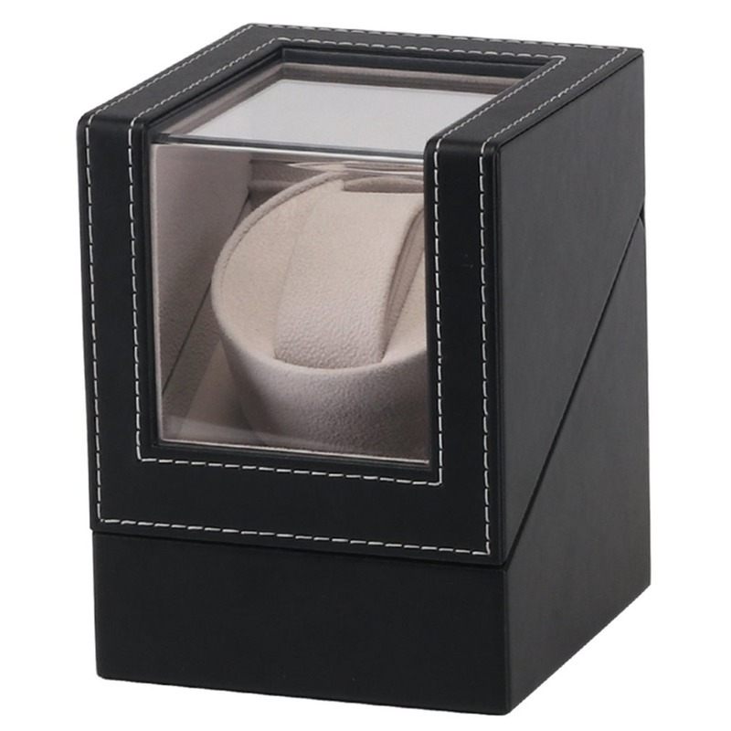 Automatic Watch Winding Box EU/US/AU/UK Plug Motor Shaker Mechanical Watch Winder Holder Display Jewelry Storage Organizer