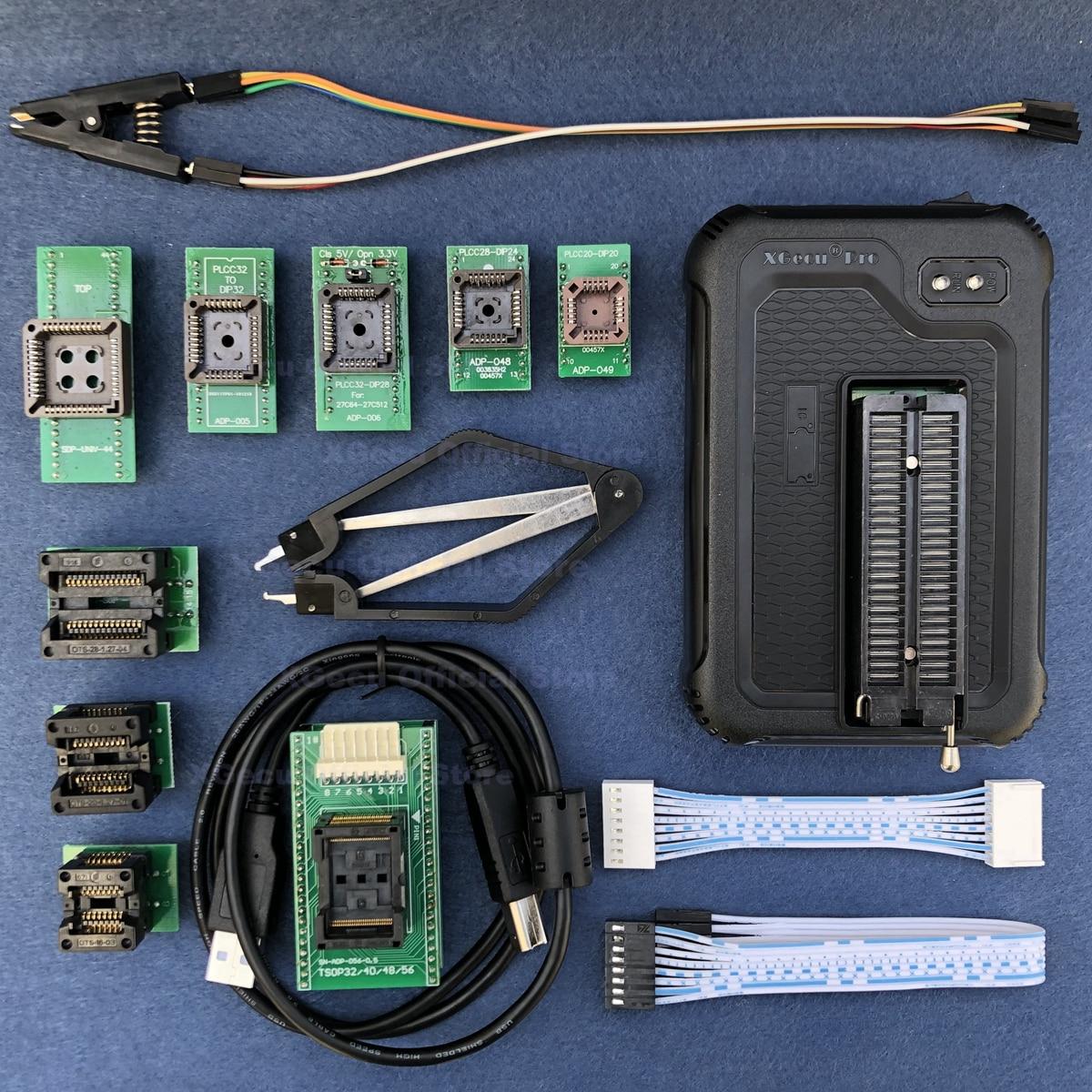 XGecu T56 USB Programmer 56 Pin Drivers Support 20000+ ICs For PIC/NAND Flash/EMMC TSOP48/TSOP56/BGA+ 9 Adapters+soic8 Test Clip