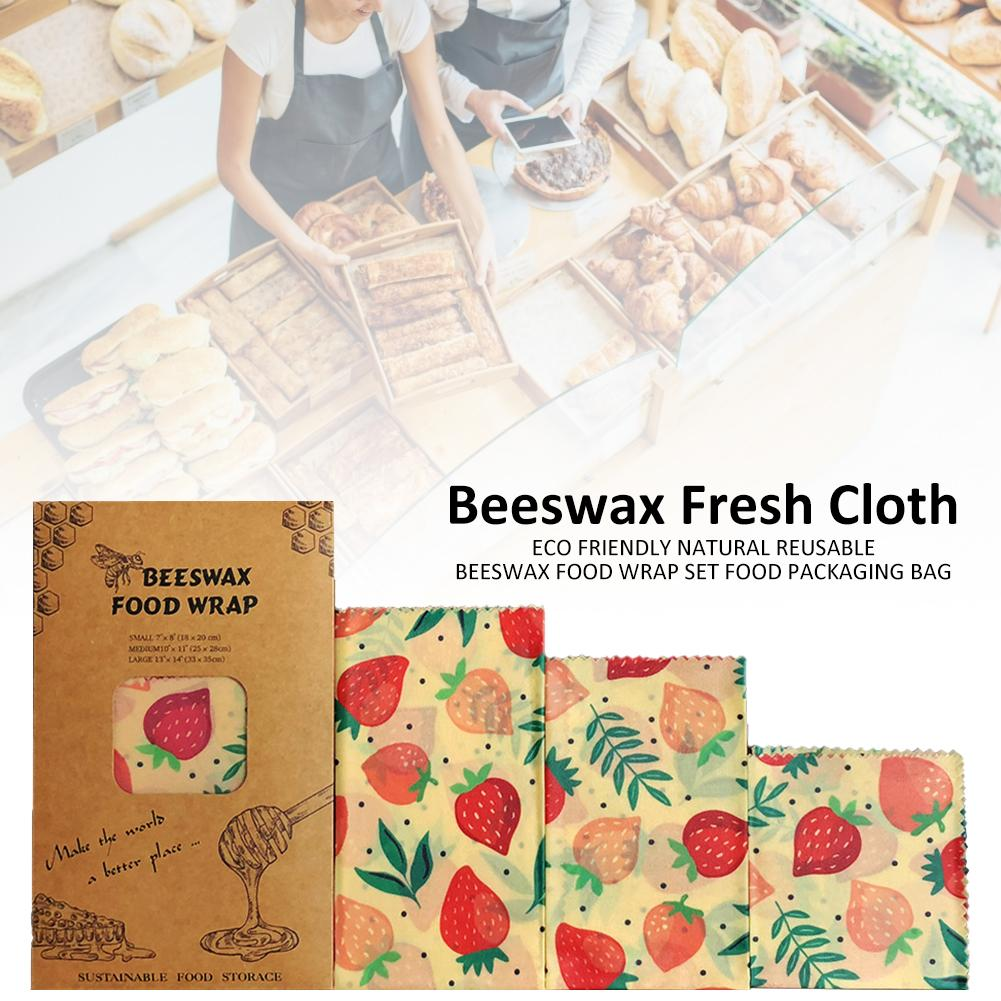 1PC Reusable Beeswax Cloth Wrap Food Fresh Bag Lid Cover Stretch Lid Jungle Party Bees Wax Wrap Plastic Wrap For Sandwich Cheese