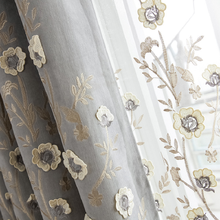 Modern Cashmere Embroidered Curtain Fabric Simple Bedroom for Living Room Curtains Finished Window Screen Custom