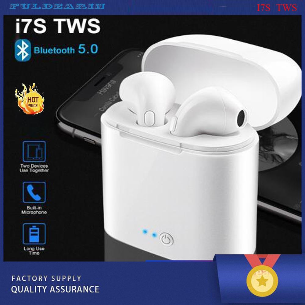 Low price i7 tws bluetooth earbuds wireless headphone earphones for all smartphone image
