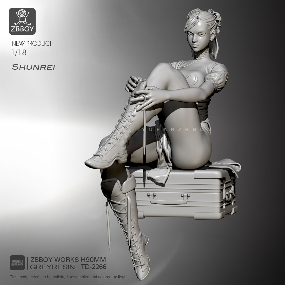 1/24 Resin Figure Kits Sitting position Chunli Model Self assmeble TD 2266|Model Building Kits|   - AliExpress