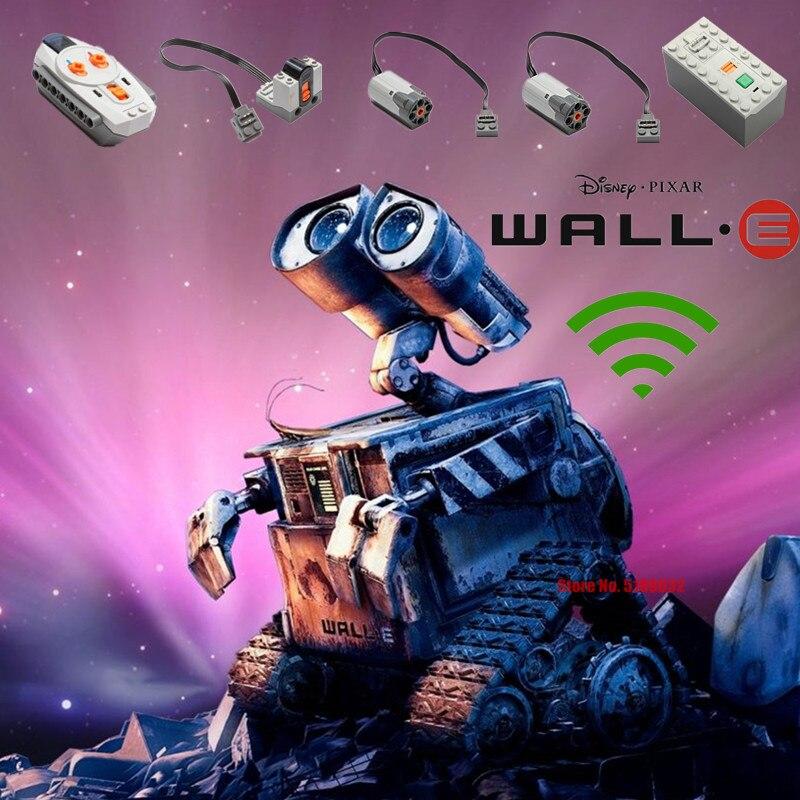 Новый Disney фильм PIXAR Series WALL E моторизованный RC робот мотор Мощность кукла фигурки строительные блоки, кирпичные игрушки, детские кубики, подар...