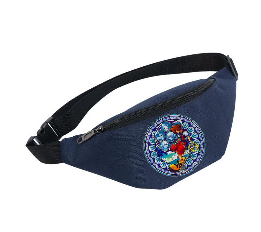 Unisex Fanny Pack Women Belt Waterproof Chest Handbag Waist Bag Ladies Waist Pack Belly Bags For Anime Kingdom Hearts