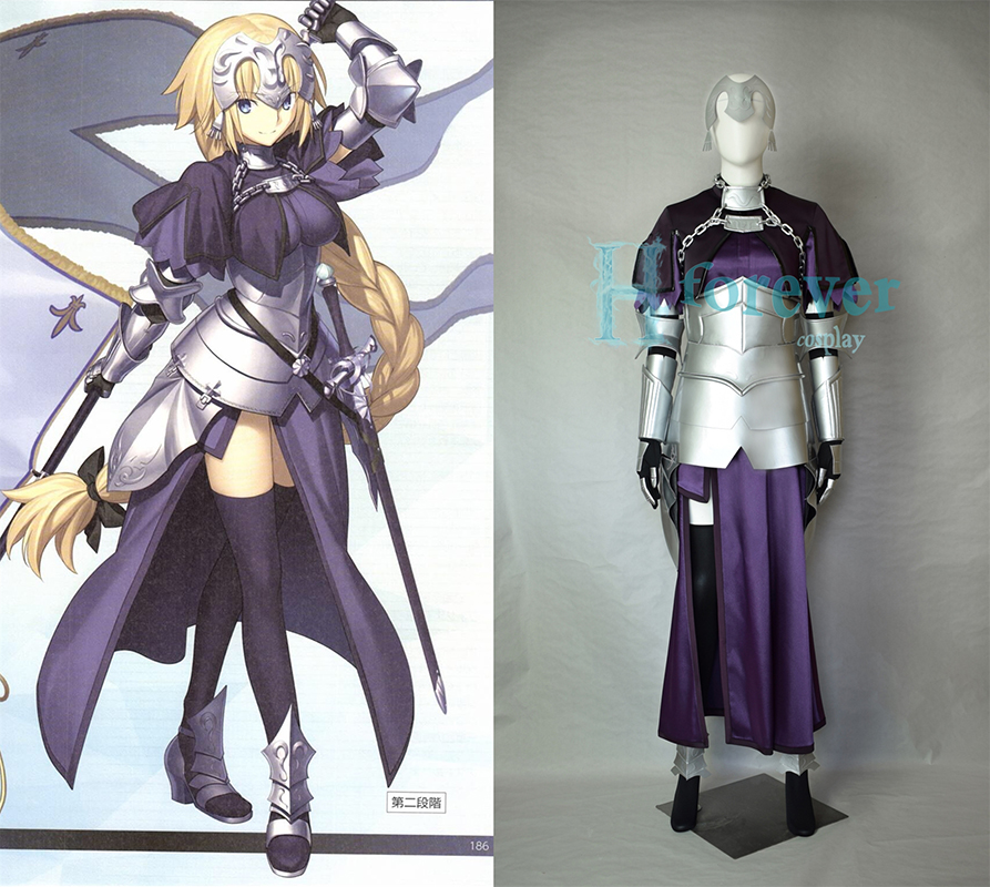 New Fate/Apocrypha Joan of Arc Cosplay Costume Ruler Jeanne d'Arc Cosplay Outfit Fullset Halloween Adult Costumes for Women
