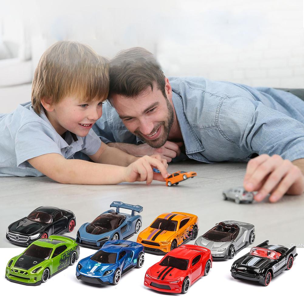 Kuulee 5PCS Mini Car Simulated Children Toy Multi-Style Taxiing Alloy Mini Car Model  High Quality Toys Small Model
