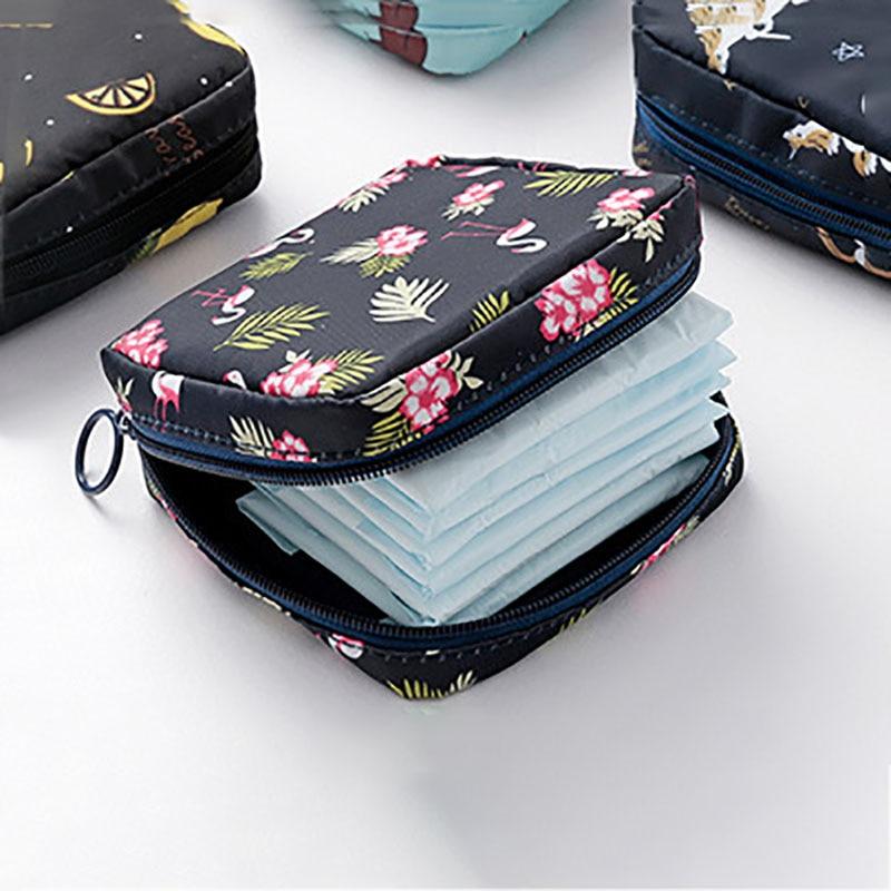 Women Tampon Storage Bag Sanitary Pad Pouch Napkin Cosmetic Bags Organizer Ladies Makeup Bag Girls Tampon Holder Organizer