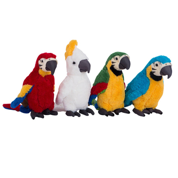 цена Cute simulation parrot doll plush toy cartoon soft stuffed animal plush decoration children's toy birthday gift 25cm  WJ254 онлайн в 2017 году