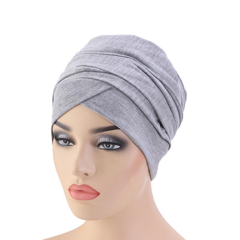Image 5 - New Muslim Long Tail Scarf Hat Women Turban Chemo Cap Hair Loss  Islamic Headwrap Head Cover Wrap Caps Headwear Dubai Arab BonnetIslamic  Clothing