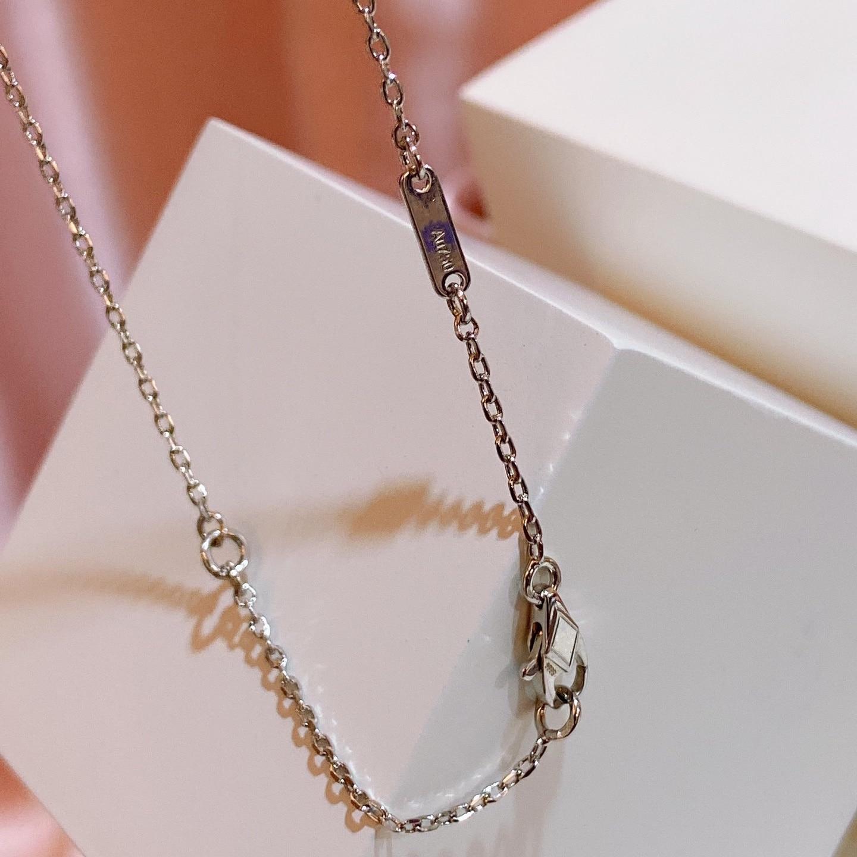 Silver Jewelry For Women 3 Leaf Flower Neckalce Flower Pendant Luck Clover Sakura Wedding Party Necklace CLOVER JEWELLERY