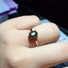 925 Sterling Silber Runde schwarz Blau Sapphire Edelstein Birthstone Engagement Ring Für Frauen