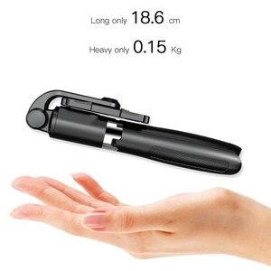 Image 3 - 새로운 무선 블루투스 Selfie 스틱 삼각대와 원격 셔터 접이식 삼각대 및 Monopods 유니버설 아이폰 안드로이드 폰