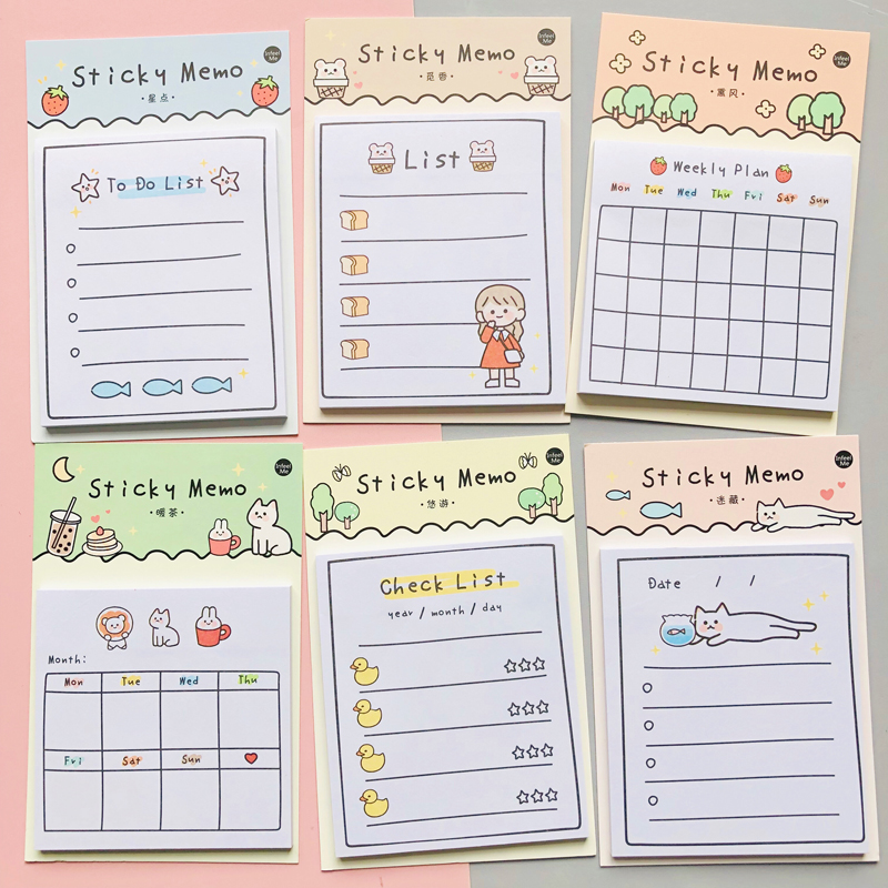30 Sheets Sunny Day Weekly Plan To Do List Sticky Note Memo Pads Stationery Notepad