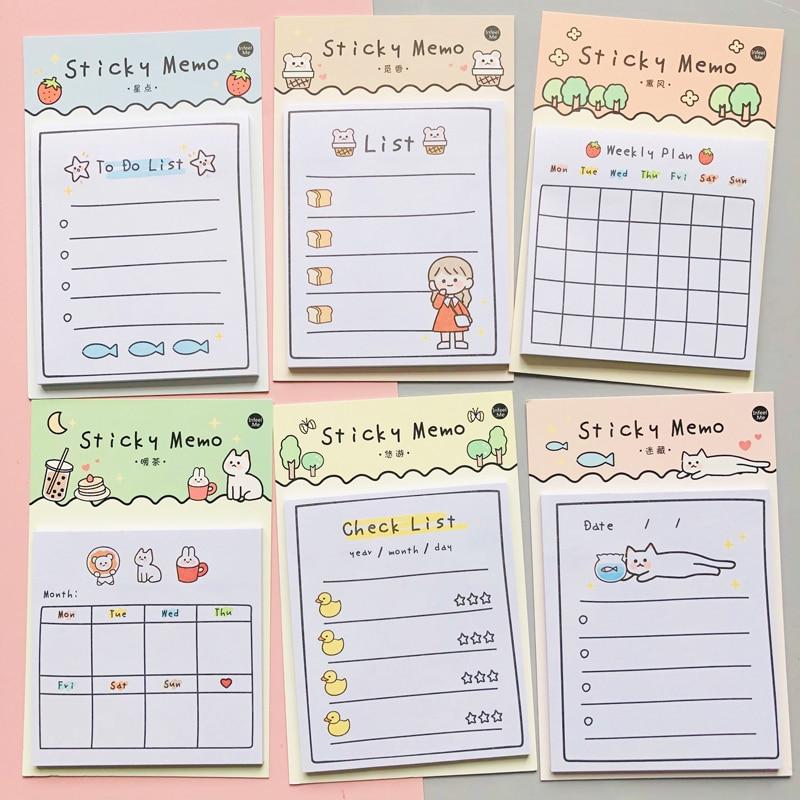 30 листов, блокноты для заметок на клейкой основе