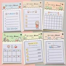 30 folhas dia ensolarado plano semanal para fazer lista de blocos de notas adesivas papelaria bloco de notas
