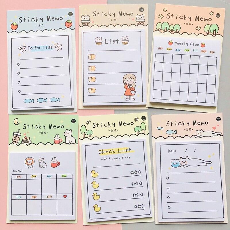 30 folhas dia ensolarado plano semanal para fazer lista de notas pegajosas bloco de notas papelaria