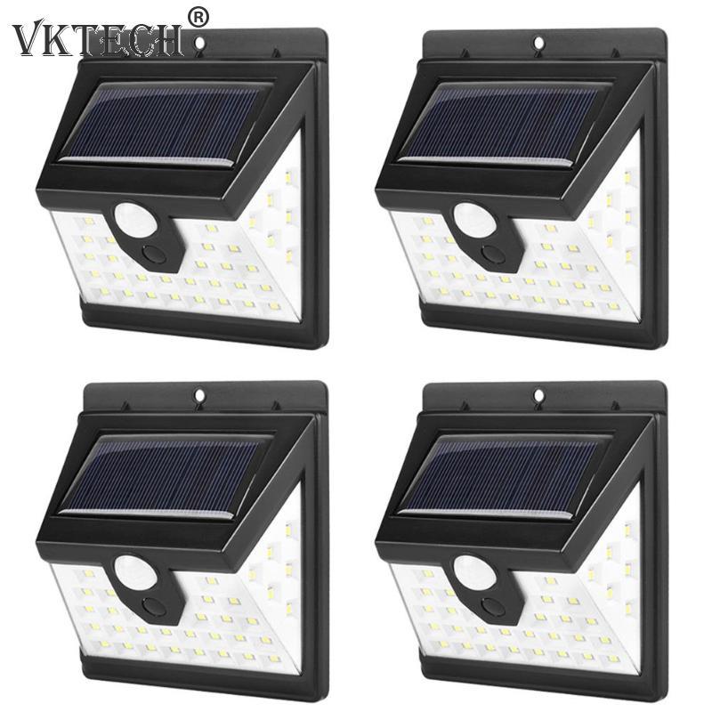 1/2/4pcs 40 LED Solar Light Solar Wall Lamp Waterproof Body Induction Outdoor Lighting Emergency Lamp Garden Light