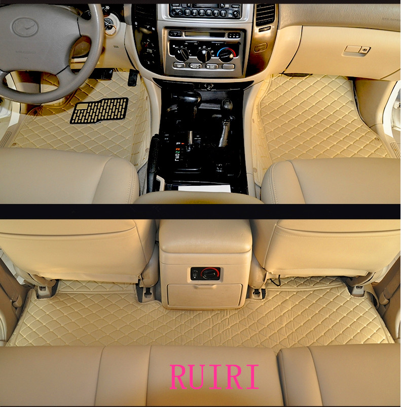 High quality mats! Special car floor mats for <font><b>Toyota</b></font> Land Cruiser <font><b>100</b></font> 5 seats 2007-1998 waterproof car carpets for LC100 2003 image