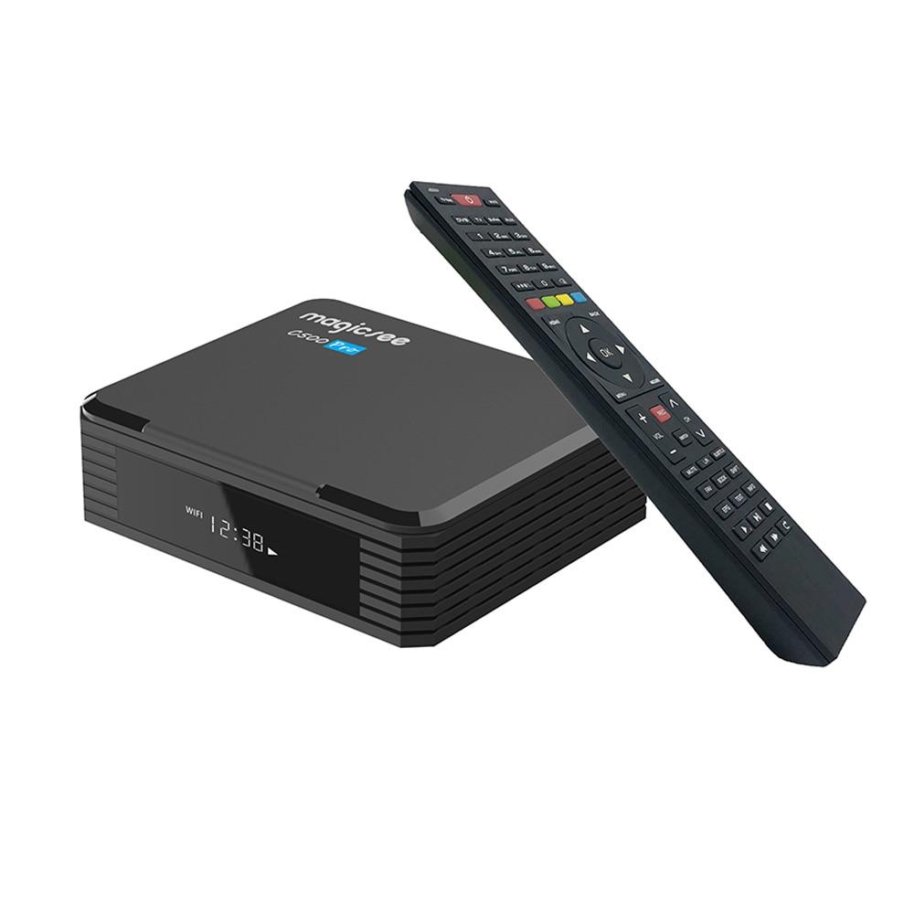 Novo magicsee c500 pro amlogic s905x3 android 9.0 caixa de tv inteligente receptor tv satélite digital DVB-T2 DVB-S2X 4gb 32gb conjunto caixa superior