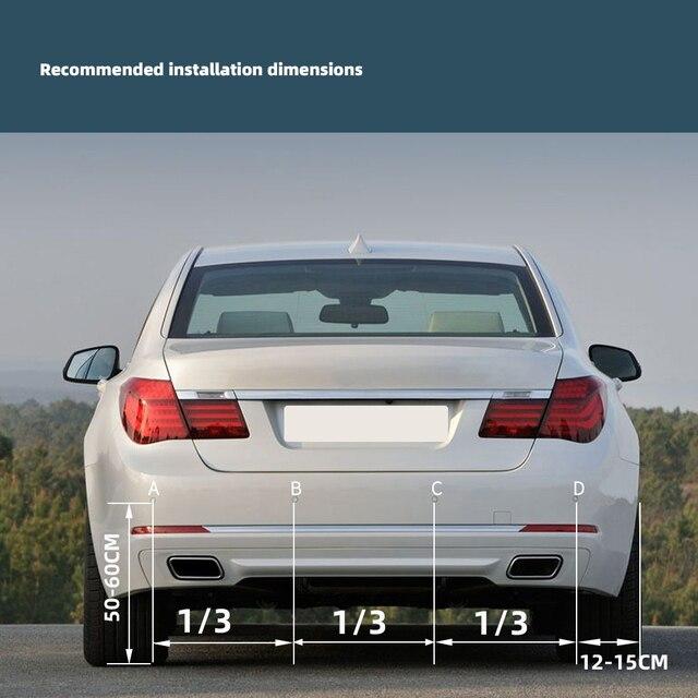 Hippcron Car LED Parking Sensor Kit 4 Sensors 22mm Backlight Display Reverse Backup Radar Monitor System