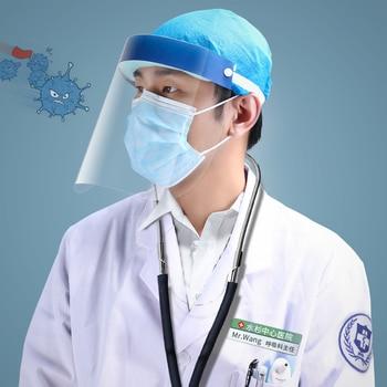 200PCS/lot plastic Protective face Shield Clear Virus protection mask Anti-fog Anti-Oil Splatter Masks wholesale