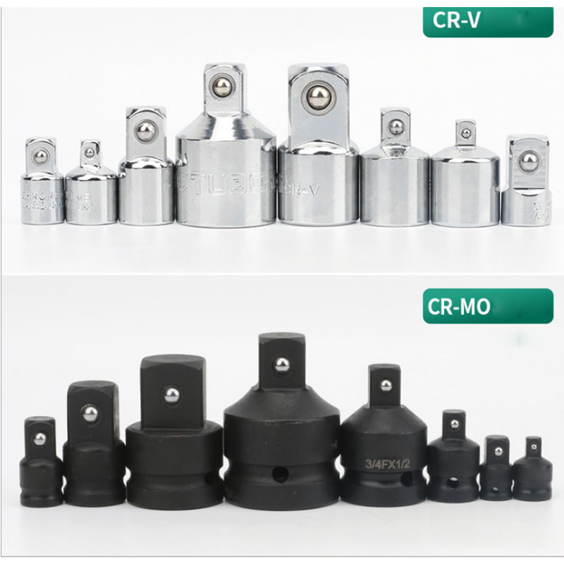 CR-MOซ็อกเก็ตซ็อกเก็ตผลกระทบCR-V Ratchet Wrench Socket Converter 1/2 ถึง 3/8 3/8 1/4 3/4 1/2 สำหรับรถซ่อมเครื่องมือ