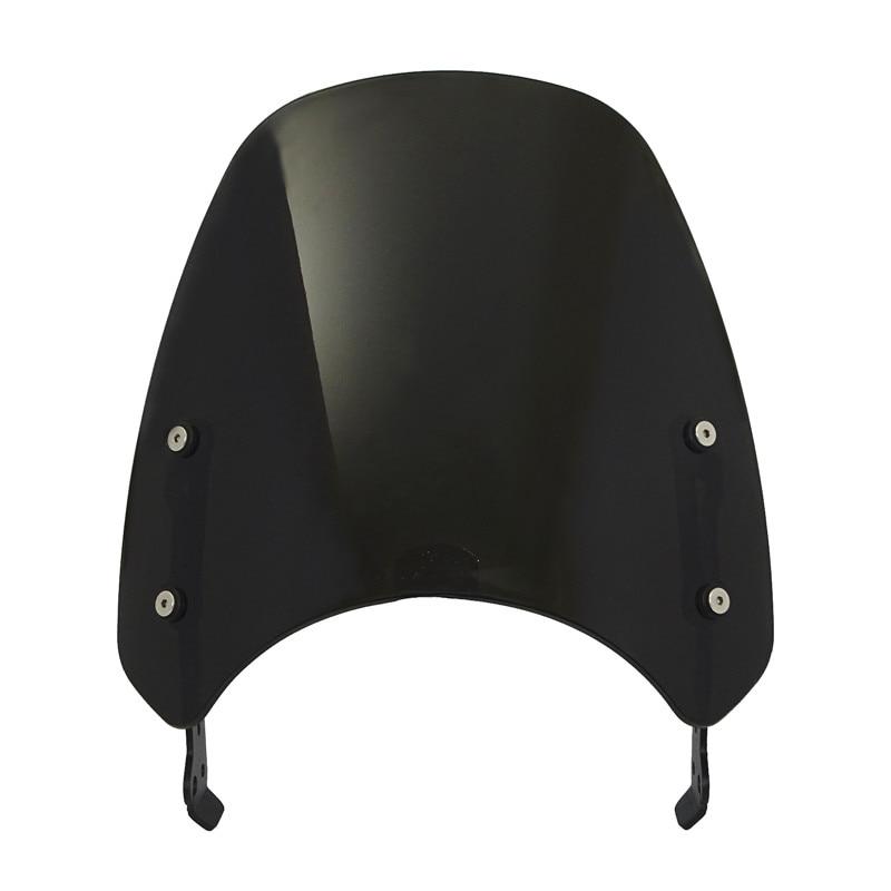 Color : Carbon Look Windscreen Windshield Fly Screen Shield Wind Deflector With Bracket Fit For DUCATI Scrambler 400 800 2015 2016 2017 2018 2019 2020 Spoiler
