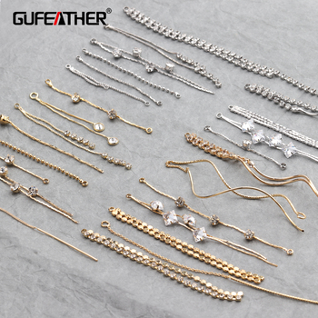 GUFEATHER M294,jewelry making,jewelry findings,diy jewelry,18k gold,0.3 microns,copper plated gold,stable quality,korean chain