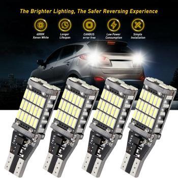 4 шт. T15 W16W светодиодный 921 912 супер яркий 30 SMD 4014 светодиодный Canbus без ошибок автомобиля резервного копирования стоп резерв фары Лампа фонарь стоп сигнала белый 12V|Сигнальная лампа|   | АлиЭкспресс