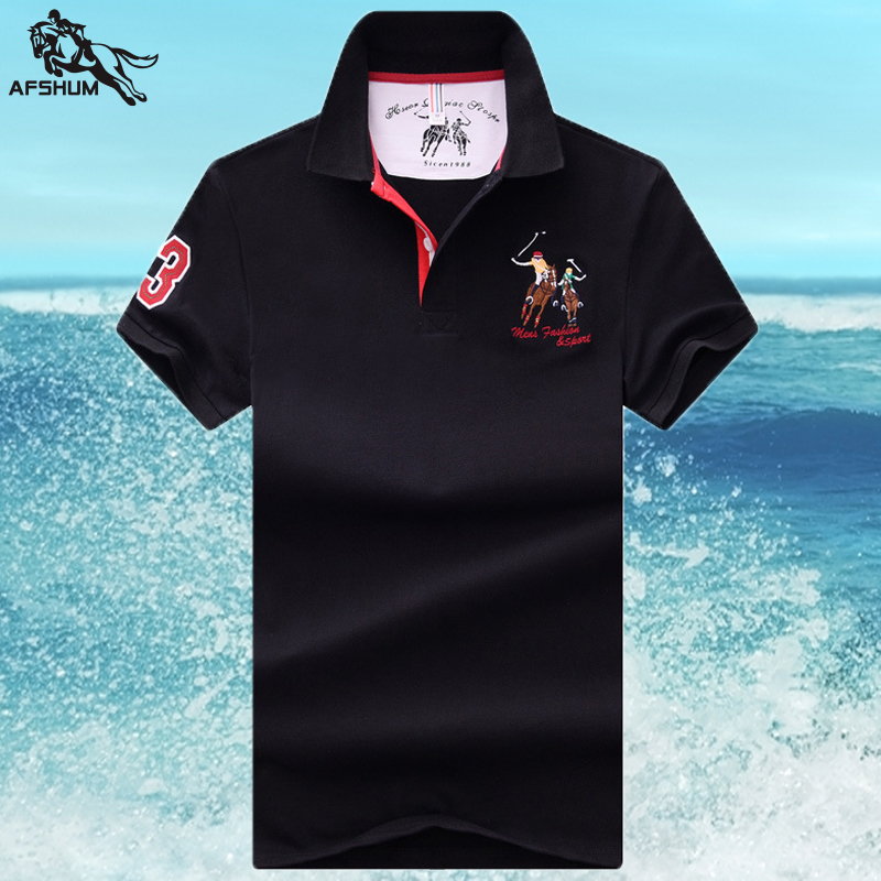 High quality new summer brand men short sleeve polo shirt casual mens cotton stand collar embroidery fashion men's slim top 1831