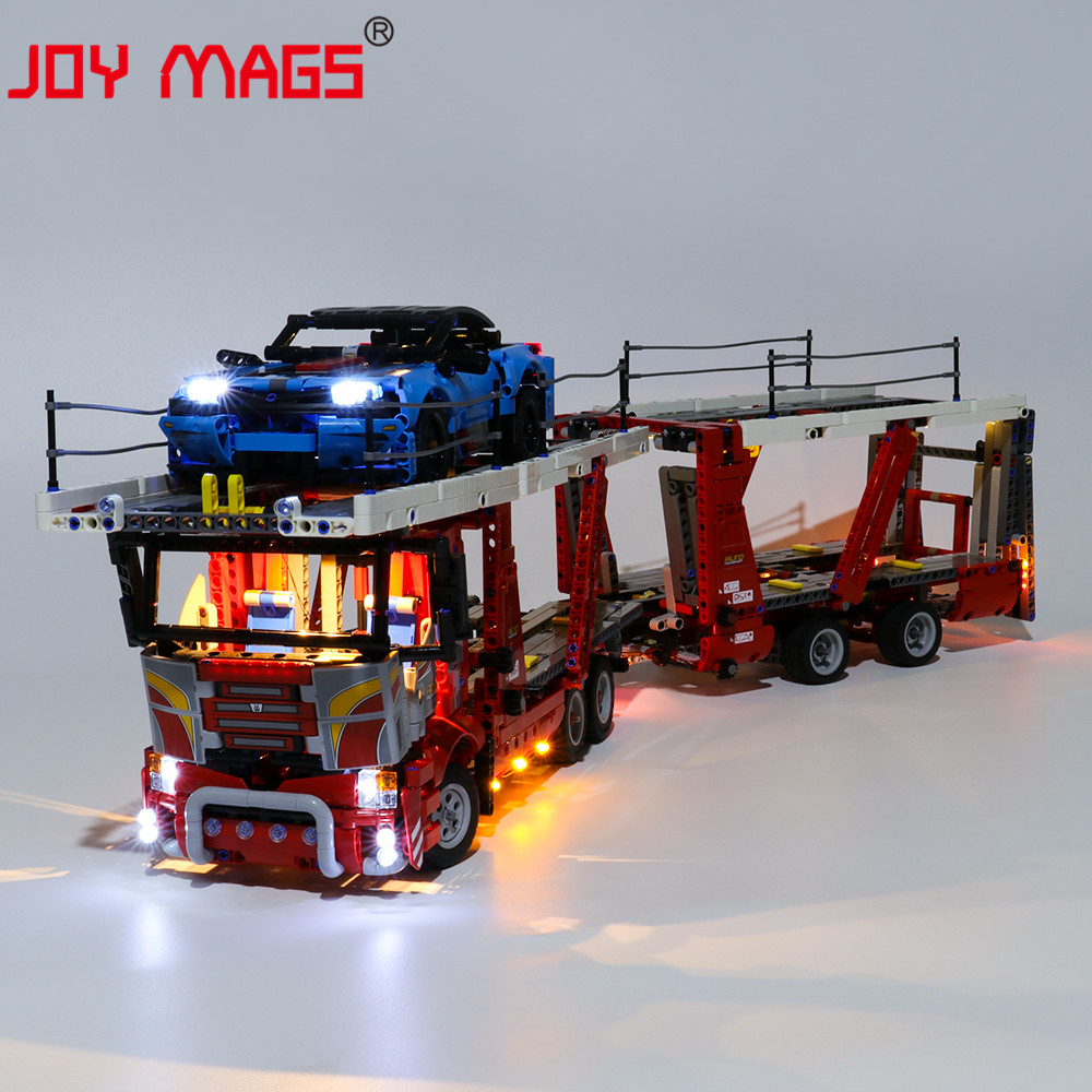 JOY MAGS Only Led Light Kit For TECHNIC Car Transporter Lighting Set Compatible With 42098 (NOT Include Model)